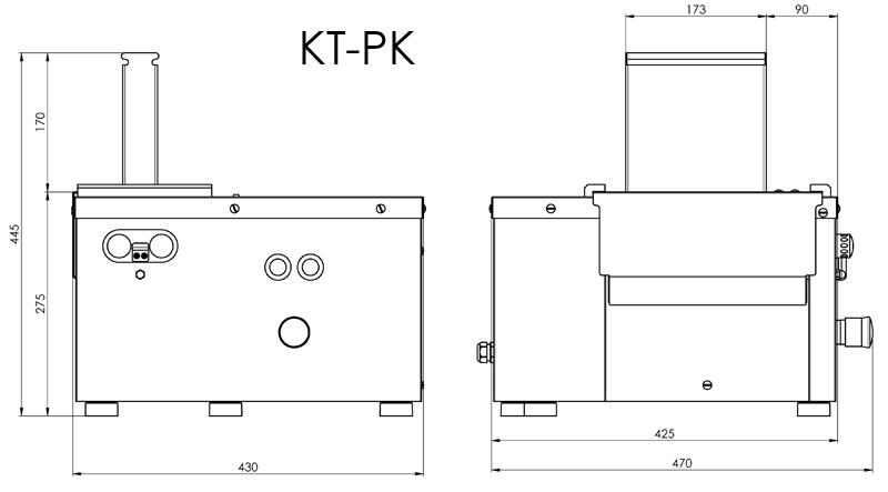 Dimensional drawing KT-PK