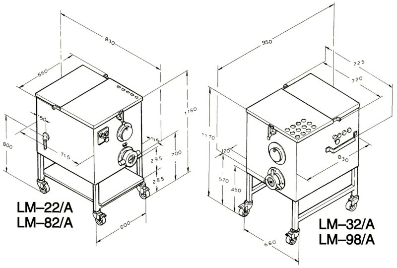 Dimensional drawings LM-22A & LM-32A